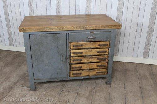 Vintage Industrial Sideboard Kitchen Island Antiques Atlas