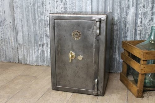 antiques atlas vintage industrial style antique safe. Black Bedroom Furniture Sets. Home Design Ideas