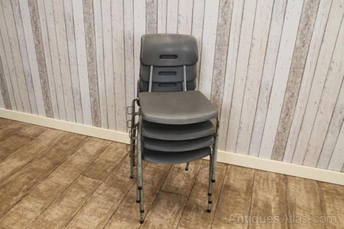 vintage plastic stacking chair