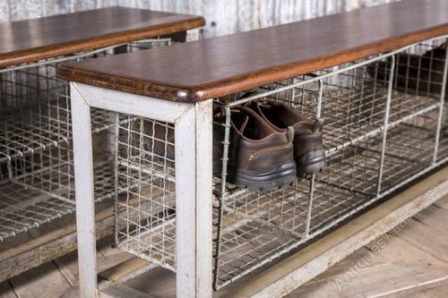 Amazing Vintage School Benches With Shoe Storage Industrial Cabinets And  Lockers With Vintage Locker Room Bench