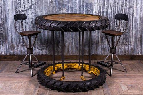 Antique Tractor Furniture : Antiques atlas vintage tractor wheel poseur table