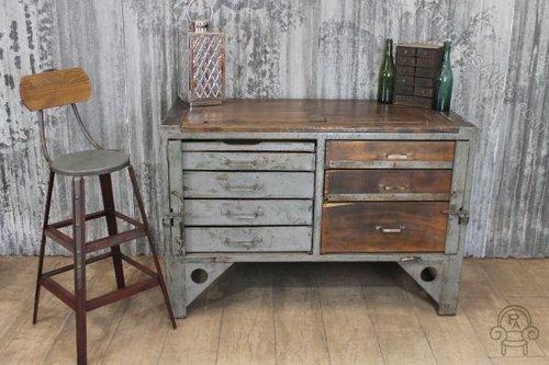 Vintage Industrial Metal Cabinet ...