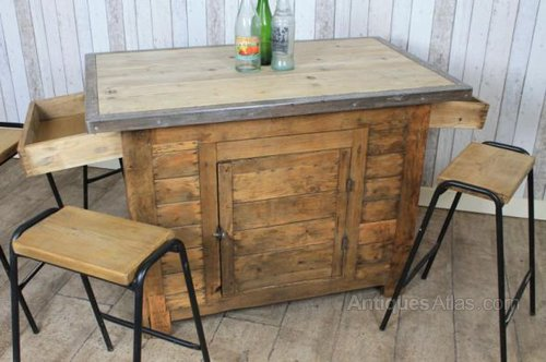 antiques atlas vintage pine kitchen island breakfast bar