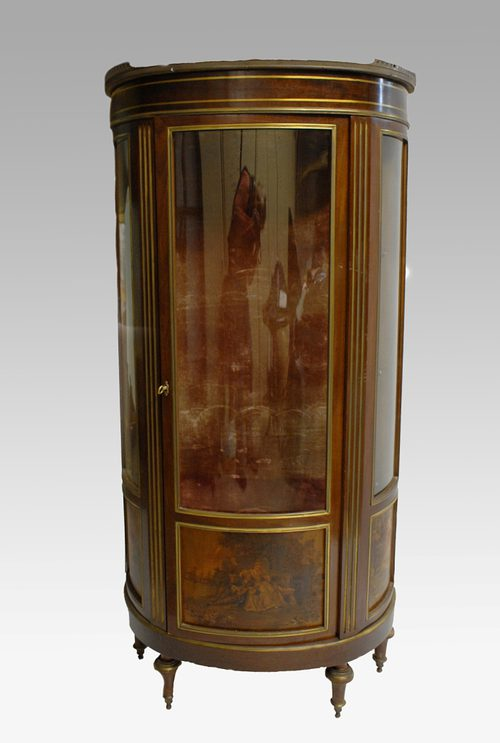 Attractive Edwardian Semi Circular Display Cabinet