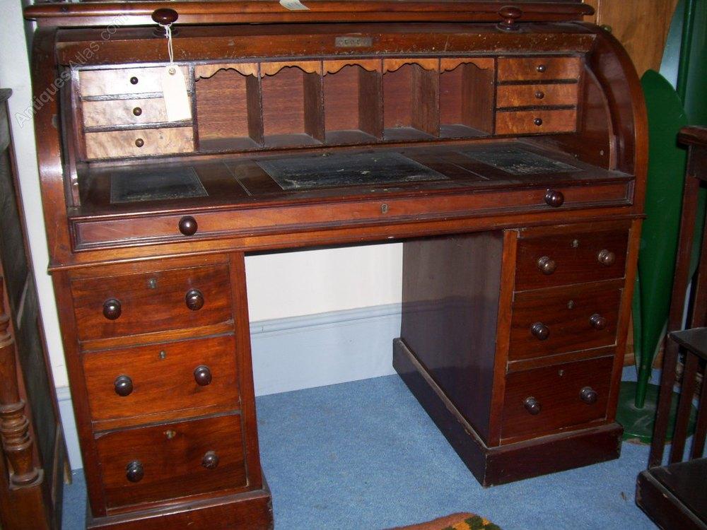 antique cylinder top bureau antiques atlas. Black Bedroom Furniture Sets. Home Design Ideas