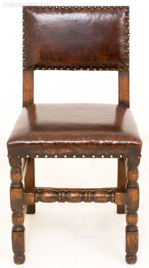 set of 8 oak jacobean style dining chairs antiques atlas. Black Bedroom Furniture Sets. Home Design Ideas