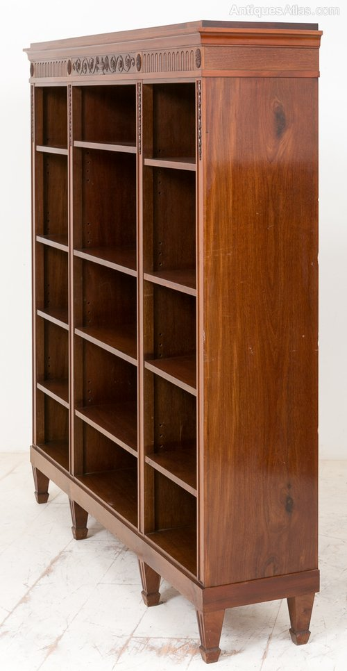 Superb Quality Mahogany Open Bookcase Antiques Atlas