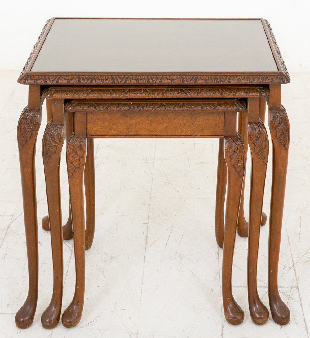 Walnut nest of tables antiques atlas