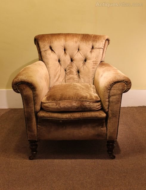 A 19thc Howard Style Deep Armchair