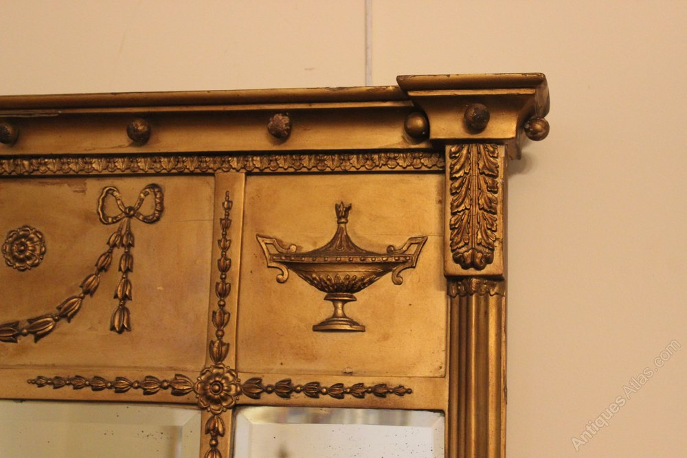 Antiques atlas gilt over mantle mirror for Mantle mirror