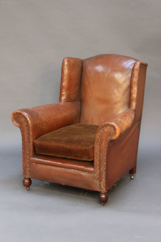 victorian leather armchair - antiques atlas