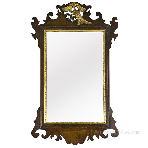 Antiques atlas chippendale style mahogany fret frame mirror for Mirror frame styles