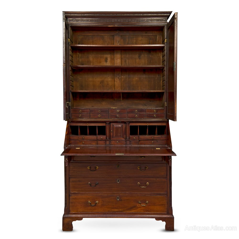 george iii period mahogany bureau bookcase antiques atlas. Black Bedroom Furniture Sets. Home Design Ideas