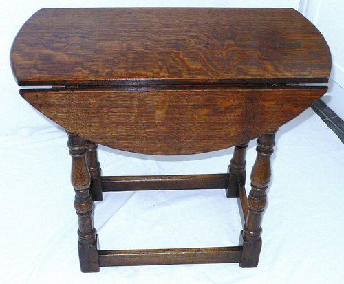 oak drop leaf coffee table - antiques atlas