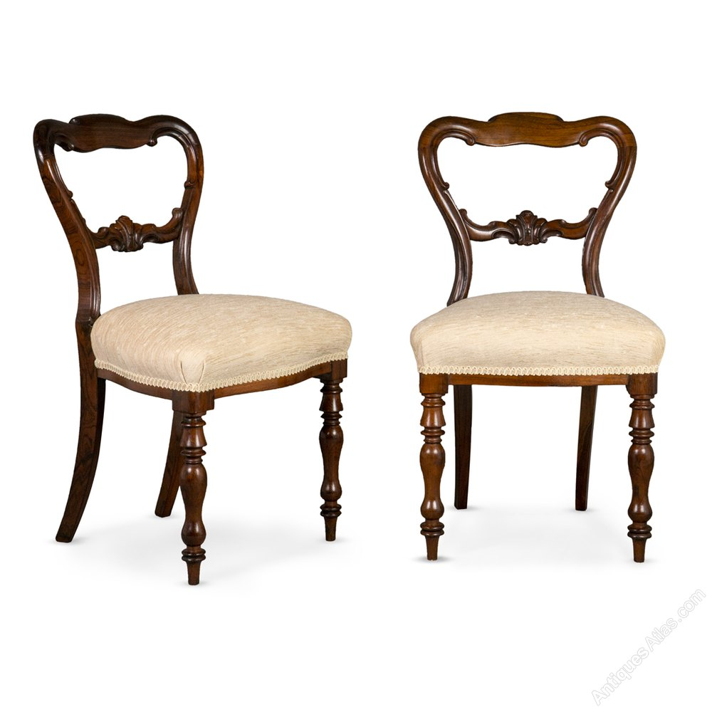 Set Of Six Early Victorian Rosewood Dining Chairs Antiques Atlas
