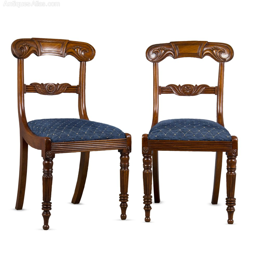 Set of six william iv mahogany dining chairs antiques atlas for Set of 6 dining chairs
