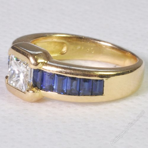 Antiques atlas chaumet sapphire and diamond ring for Chaumet wedding ring