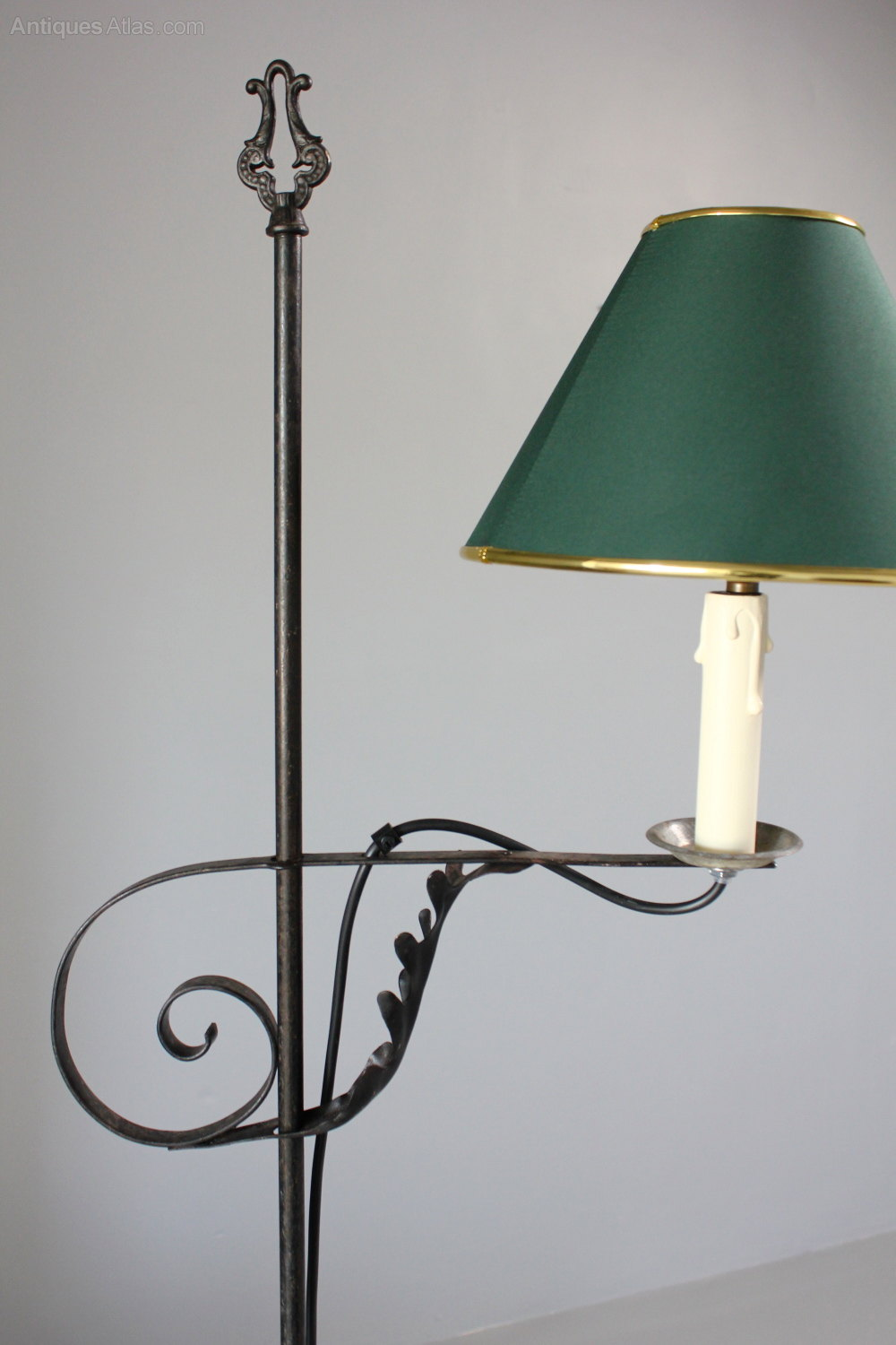 Antiques Atlas 1930 S Scrolled Iron Work Floor Standing Lamp