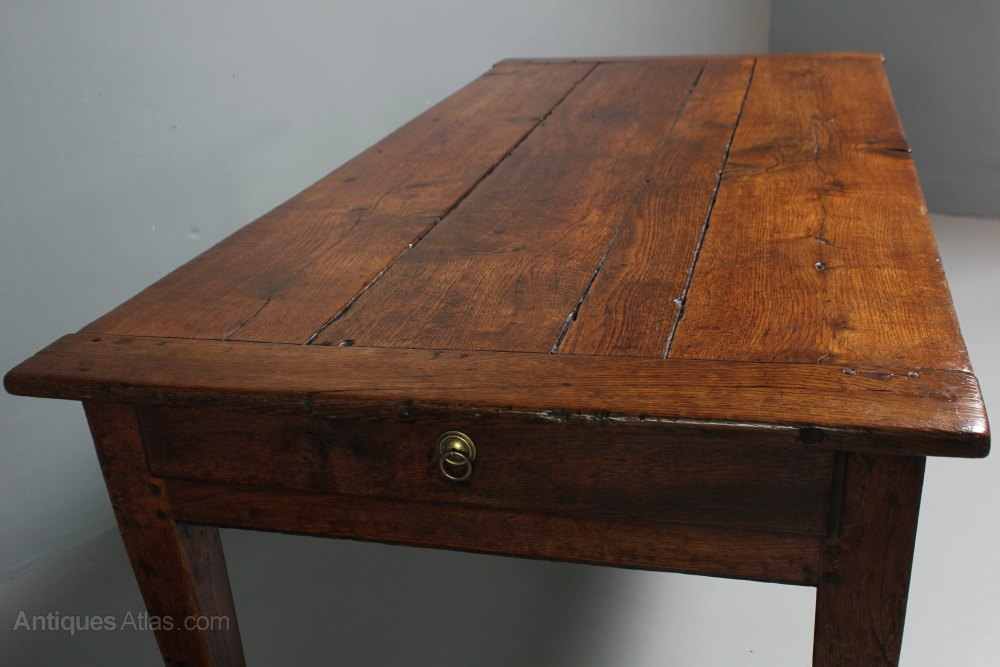 19th Century Oak Farmhouse Table Antiques Atlas