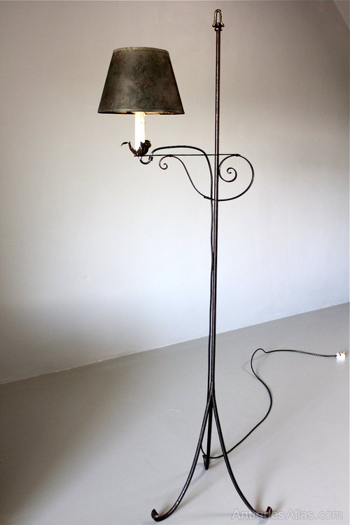 antiques atlas 20th century wrought iron floor lamp. Black Bedroom Furniture Sets. Home Design Ideas