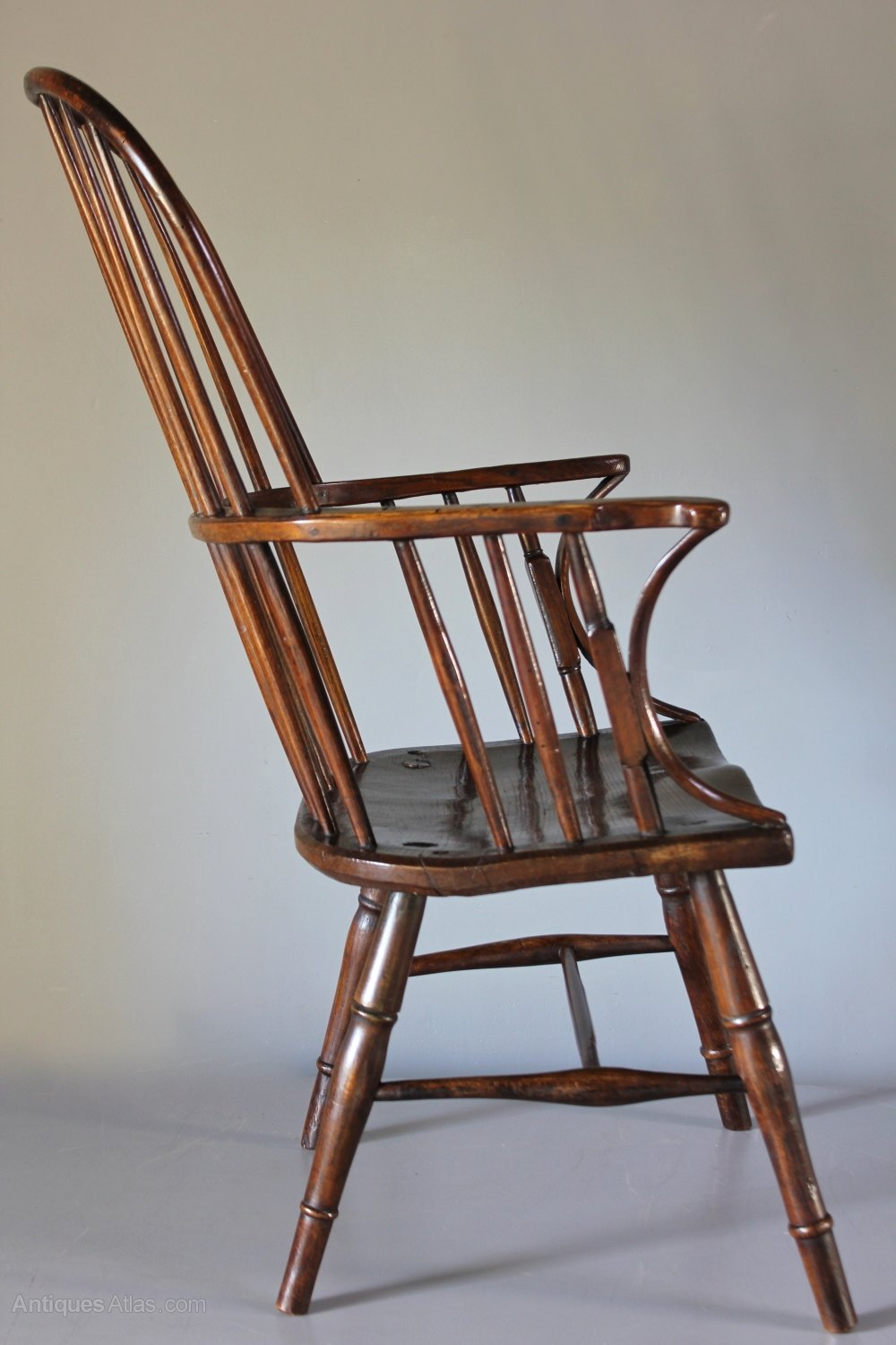 Windsor Arm Chairs ~ Antique hoop back windsor arm chair t antiques atlas