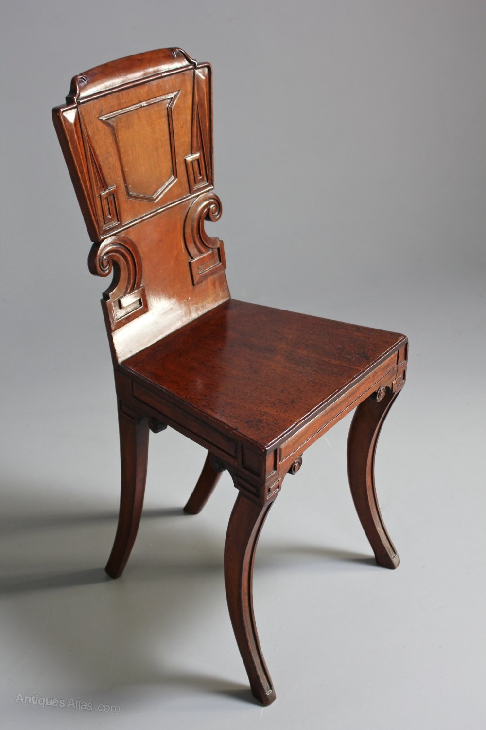 Foyer Chair Quotes : Early th century mahogany hall chair antiques atlas