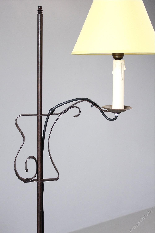 Antiques Atlas Iron Floor Standing Adjustable Lamp