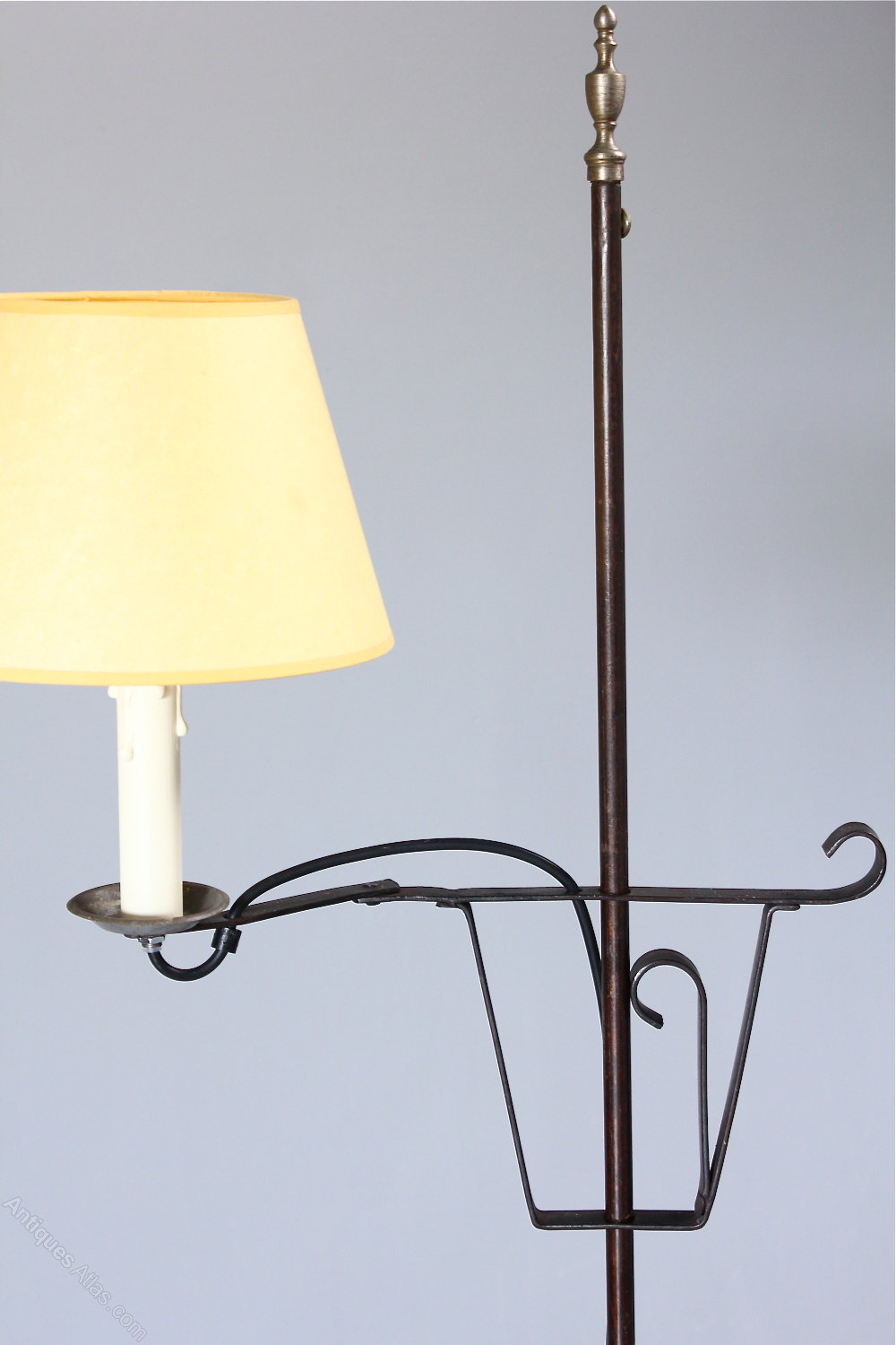 Antiques Atlas Iron Floor Standing Lamp With Adjustable Arm