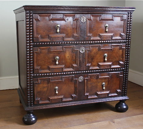 Jacobean Revival Victorian Chest Of Drawers - Antiques Atlas