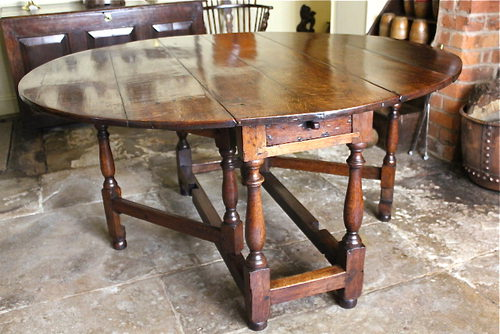 Large Th Century Oak Gateleg Table Antiques Atlas - Antique gateleg tables