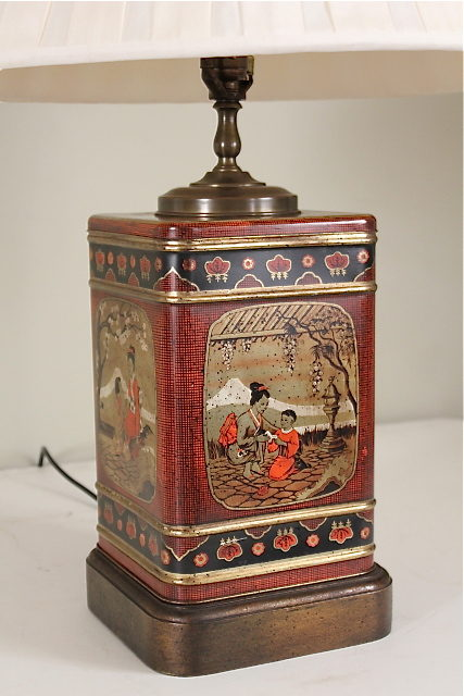 Antiques Atlas Pair Of Antique Tea Tin Table Lamps