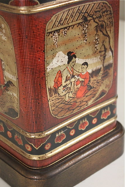 Antiques Atlas Pair Of Antique Tea Tin Table Lamps