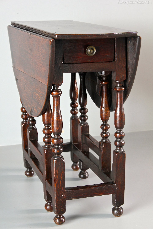 Small 18th Century Oak Gateleg Table Antiques Atlas