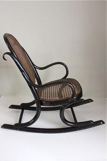 Thonet Ebonised Bentwood Child 39 S Rocking Chair Antiques