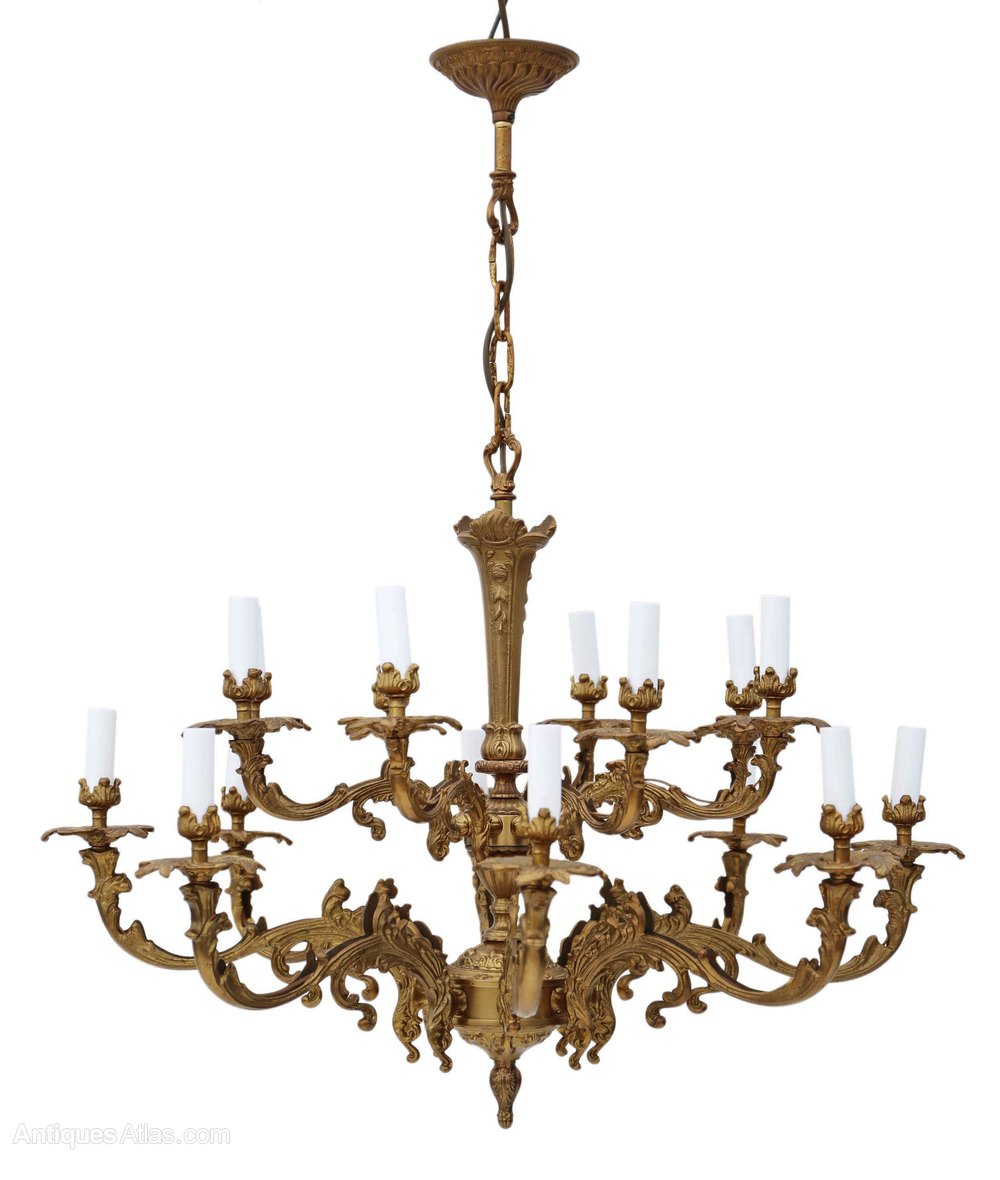 New  Lamp Ormolu Brass Chandelier Heavy Antique Chandeliers