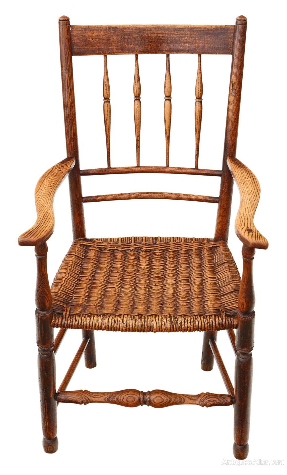Antique Foyer Chair : Th century ash elm armchair chair hall side antiques atlas