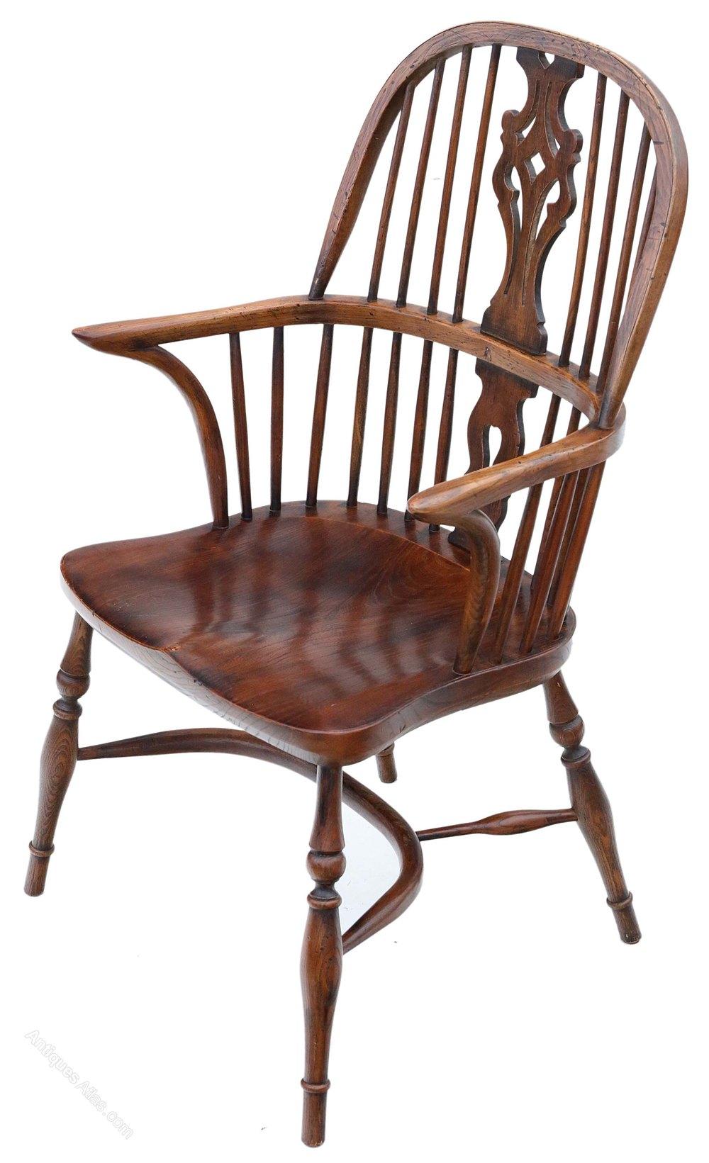 Antiques Atlas Ash Elm Windsor Armchair Hall Side Dining Chair