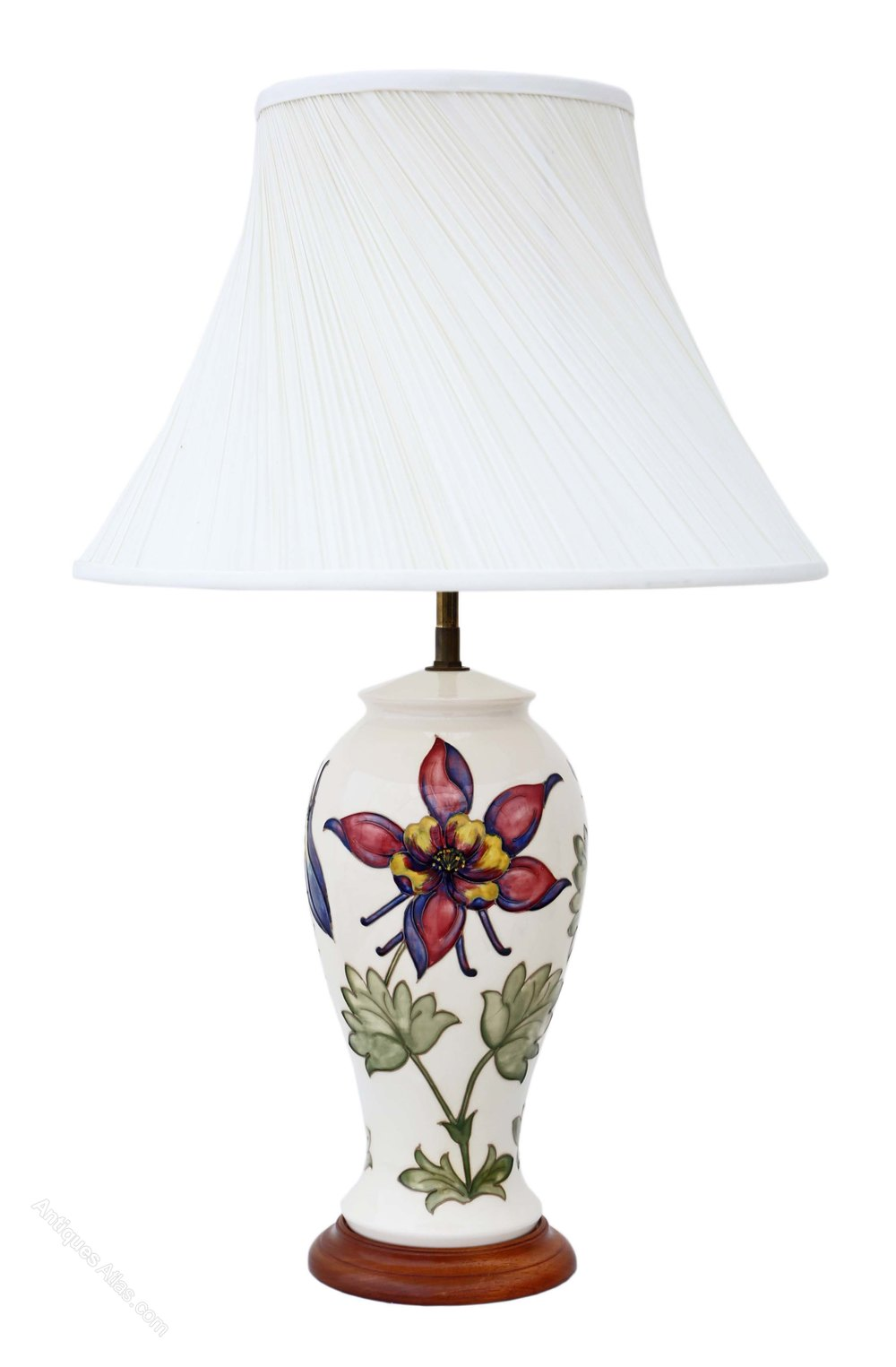 Antiques Atlas Ceramic Moorcroft Table Lamp With Shade