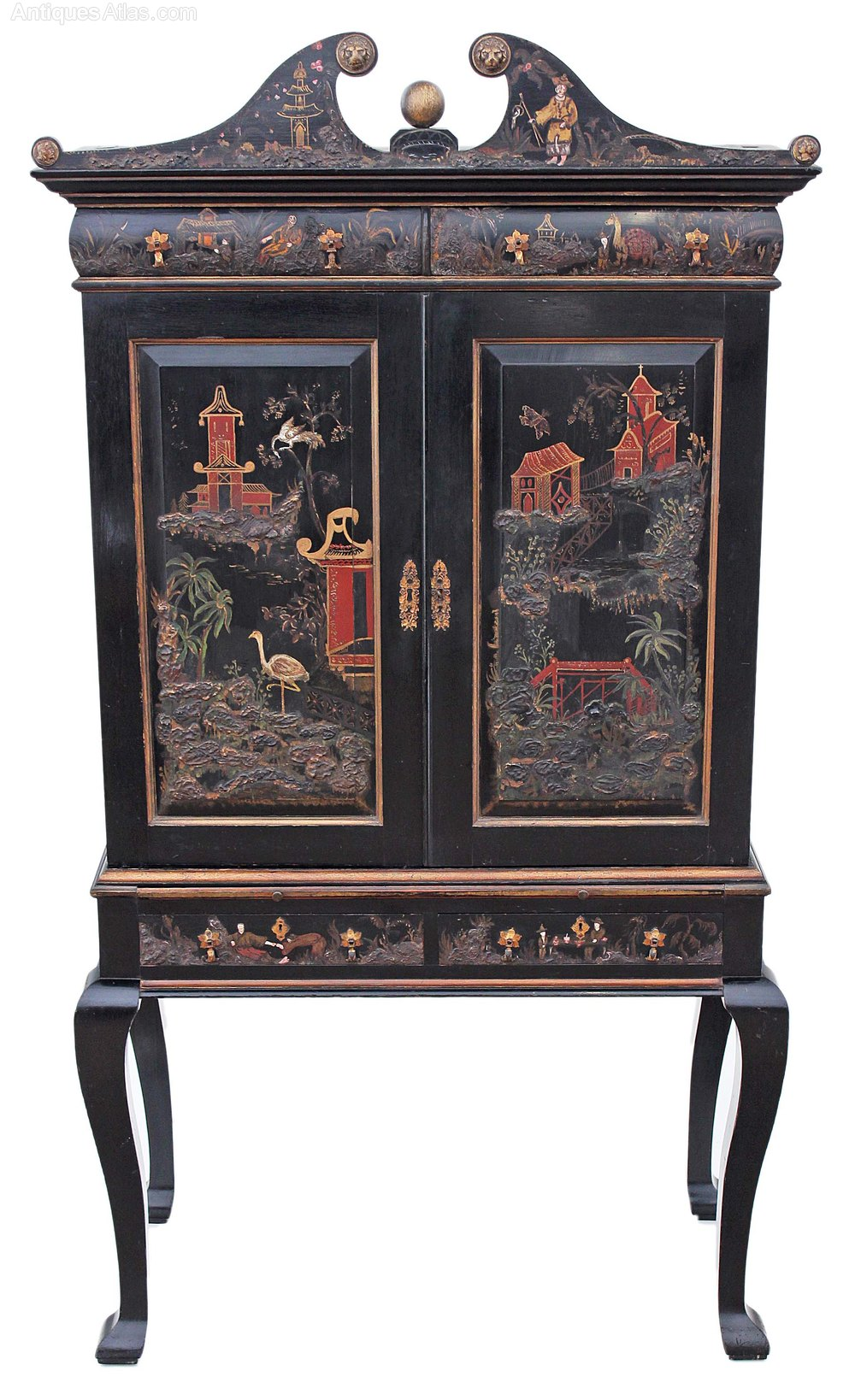 chinoiserie dresser abbatant secretaire bureau des antiques atlas. Black Bedroom Furniture Sets. Home Design Ideas