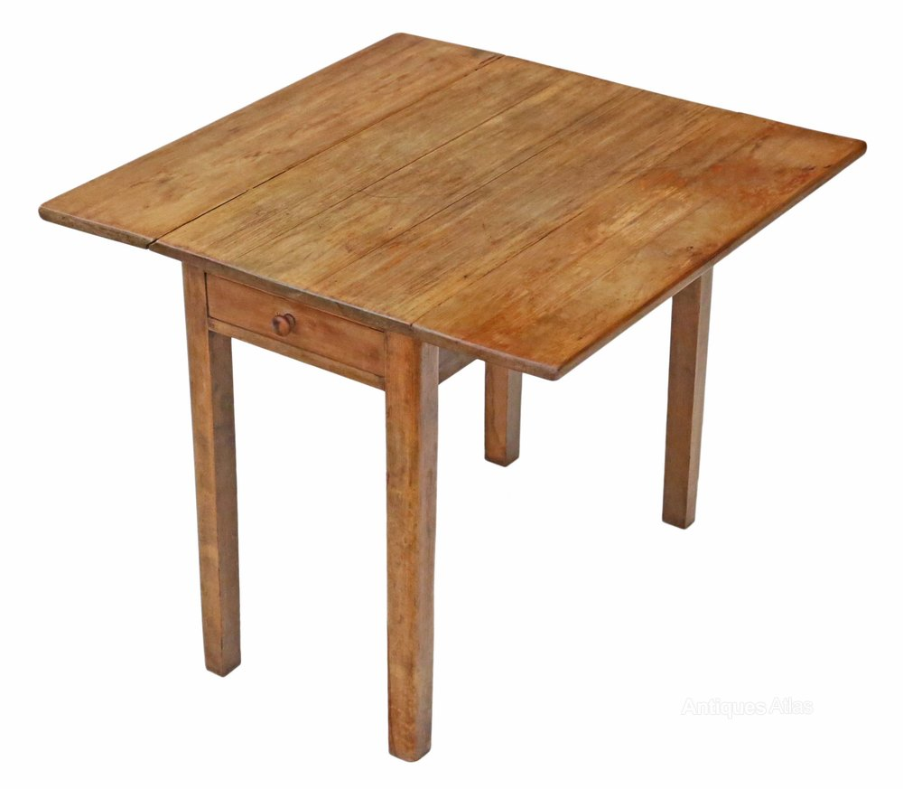Drop leaf scrub top pine kitchen dining table antiques atlas for Kitchen table top