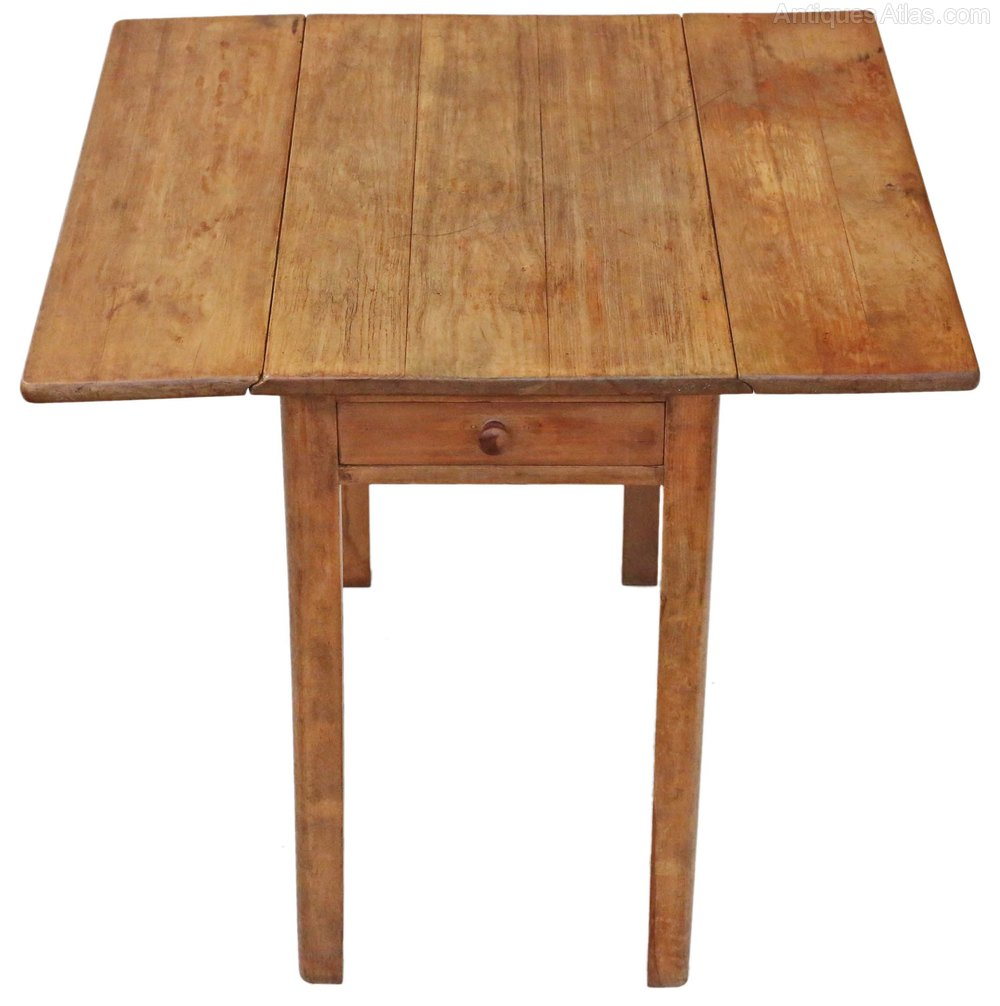 Drop leaf scrub top pine kitchen dining table antiques atlas for Drop leaf dining table
