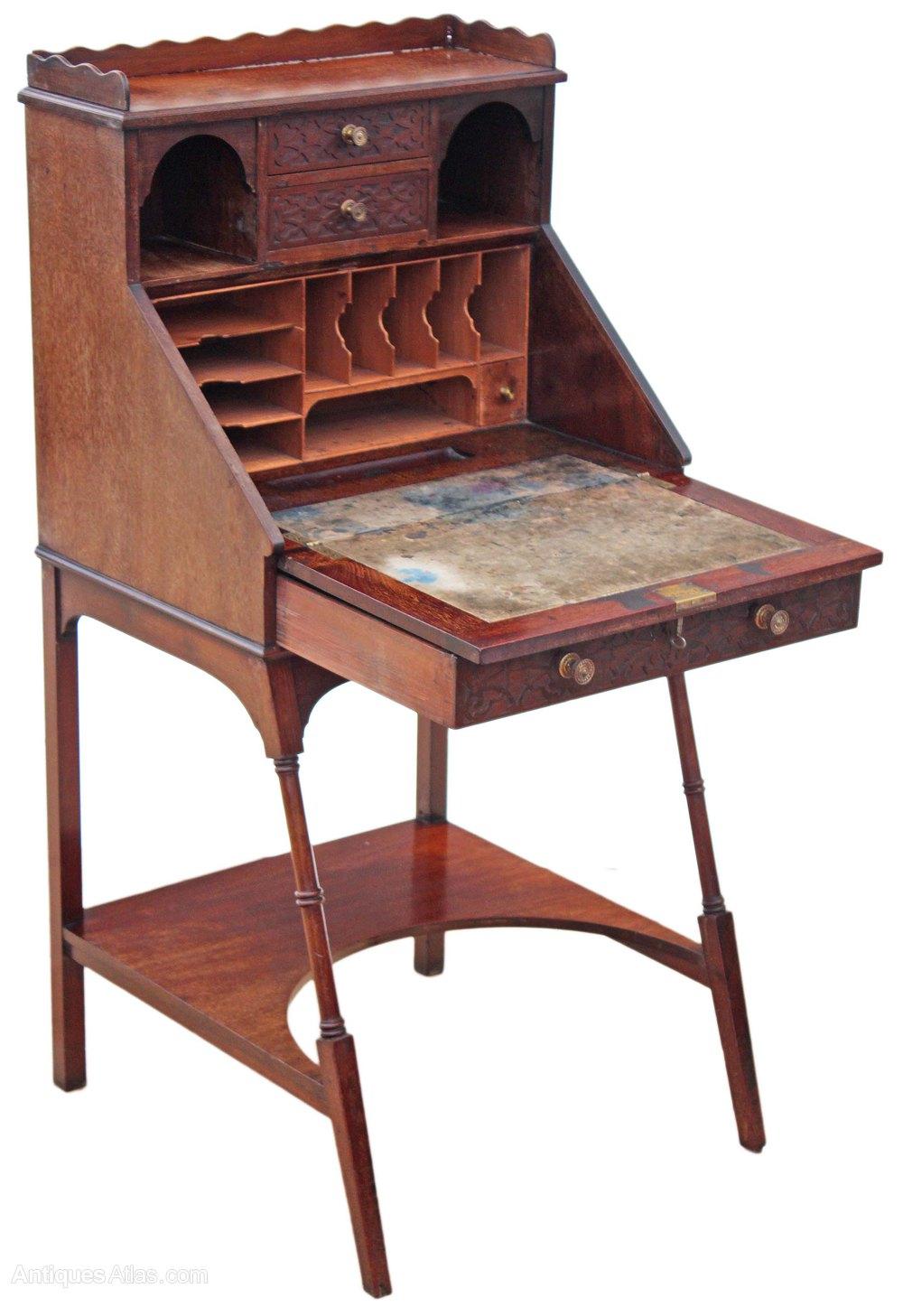 edwardian mahogany ladies writing desk bureau table antiques atlas. Black Bedroom Furniture Sets. Home Design Ideas