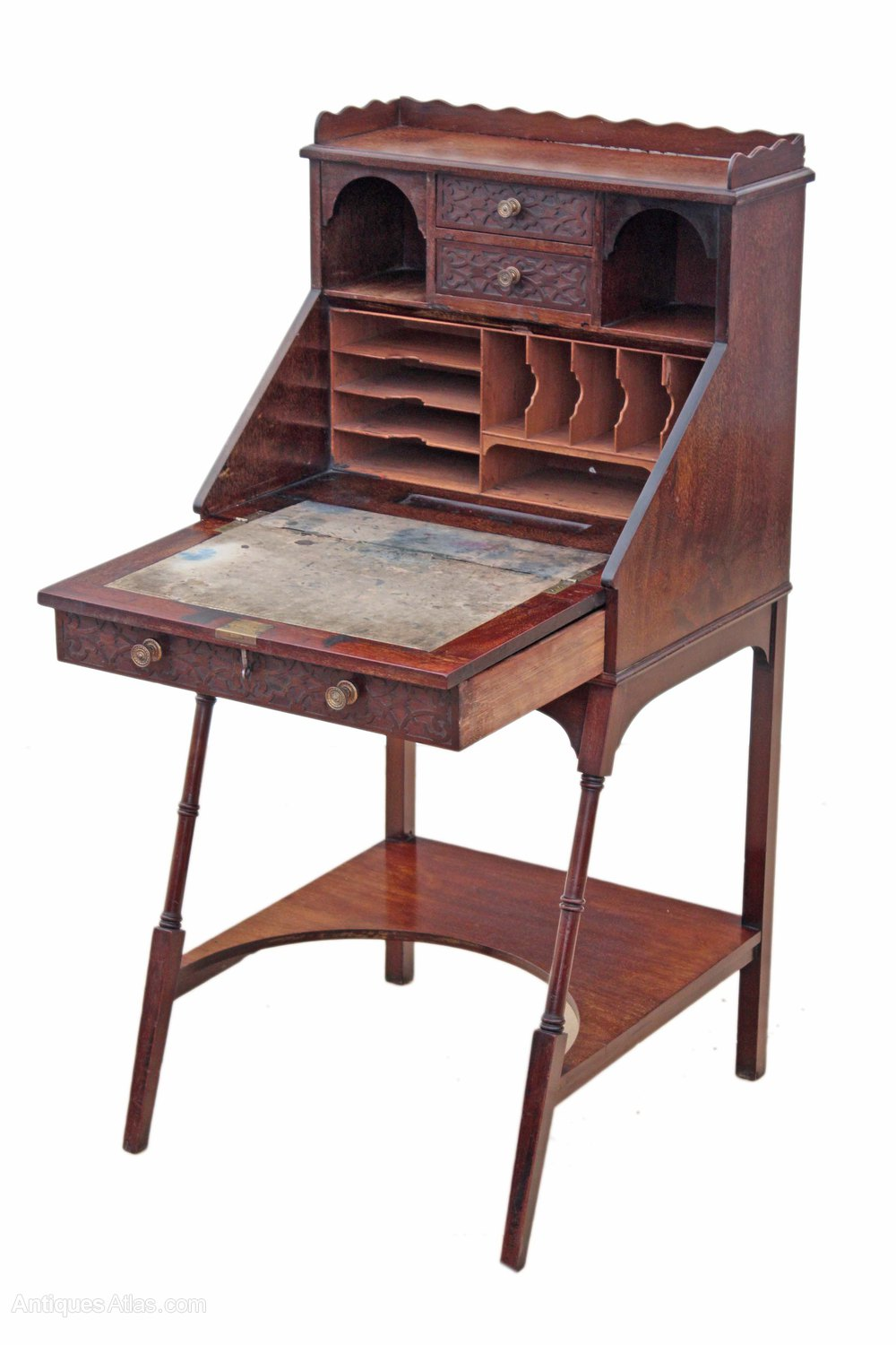 Edwardian mahogany ladies writing desk bureau table for Bureau table