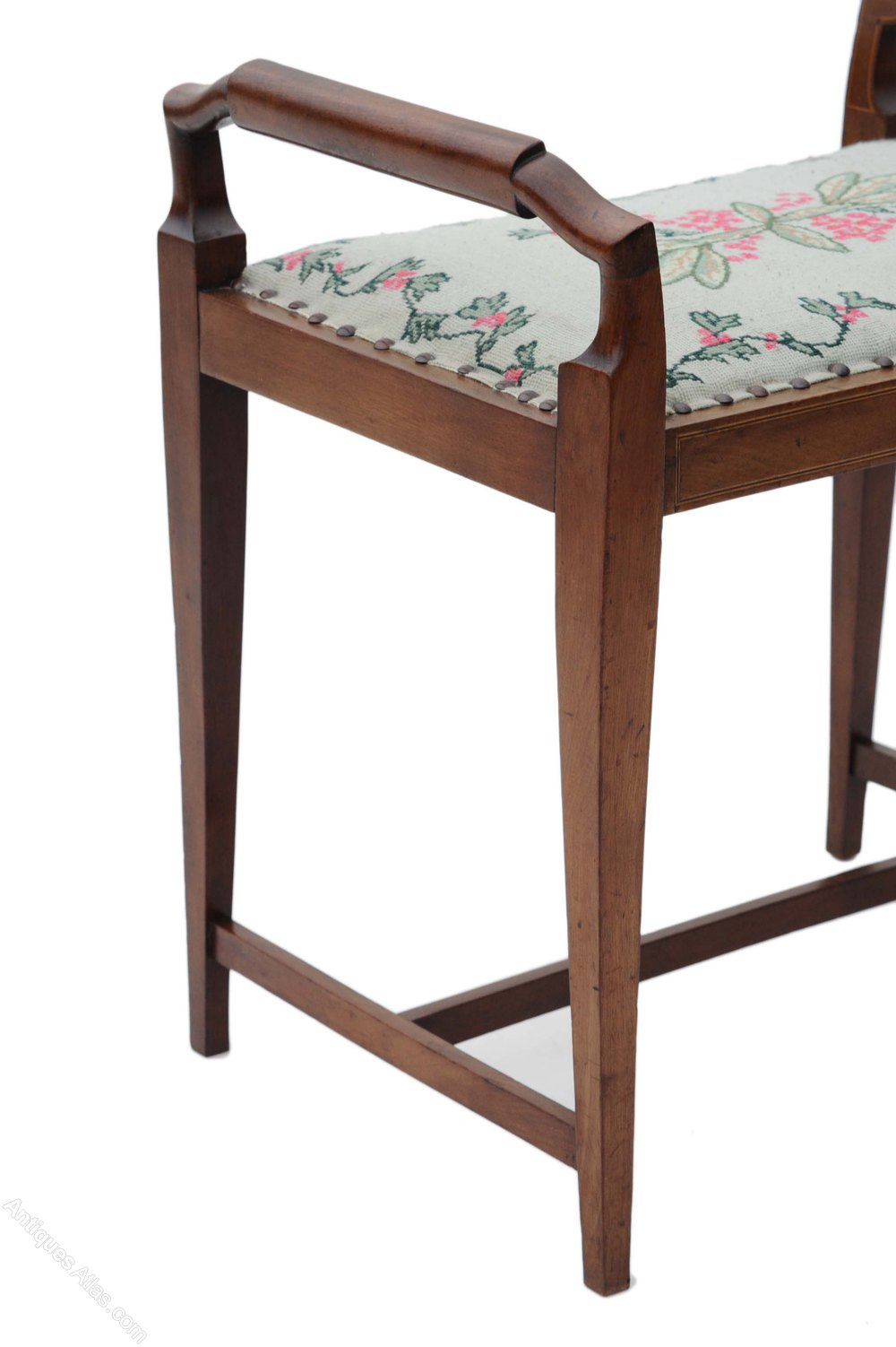 Dressing Table Chairs And Stools: Edwardian Walnut Dressing Table Piano Music Stool