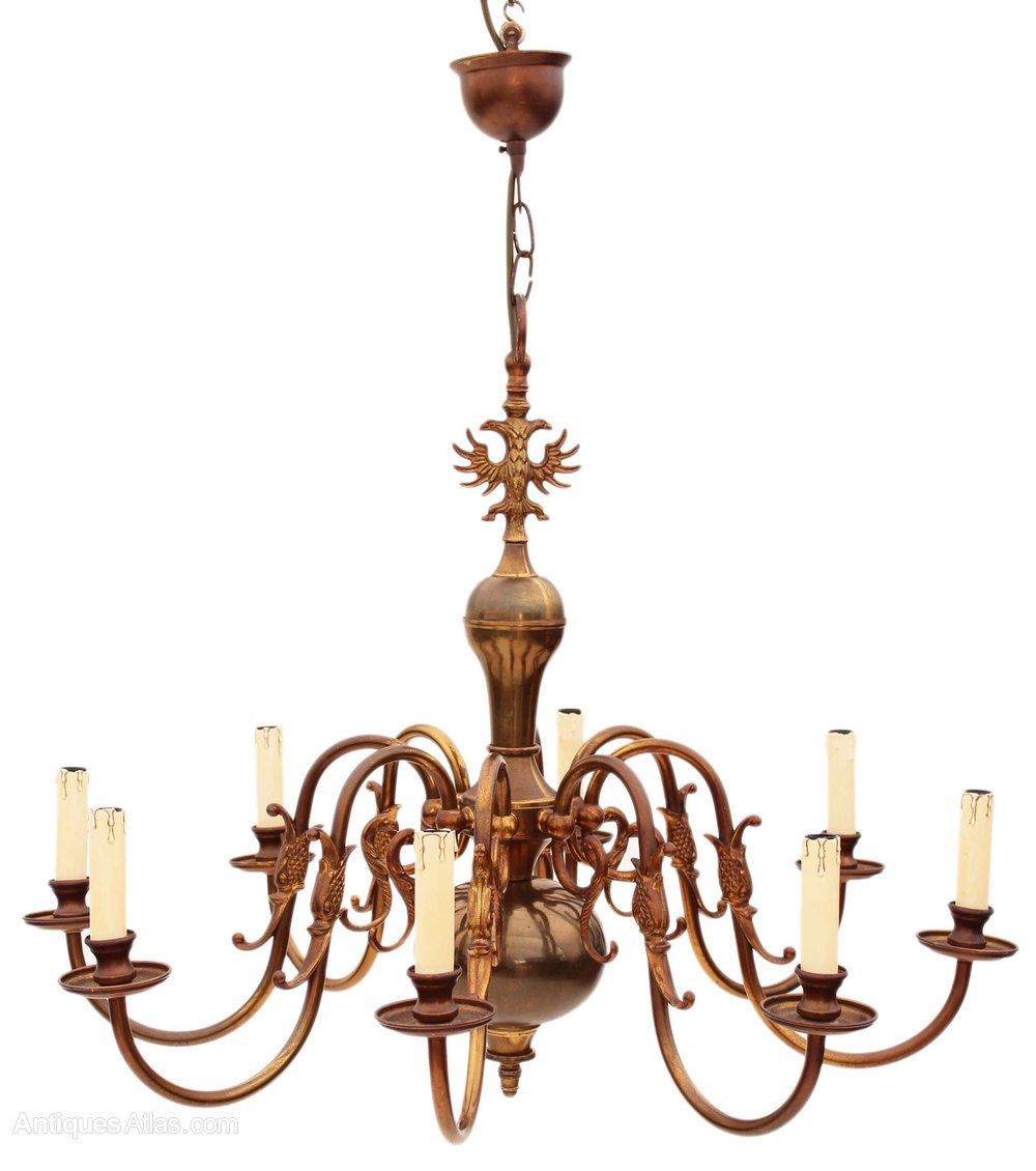 how to clean antique brass chandelier
