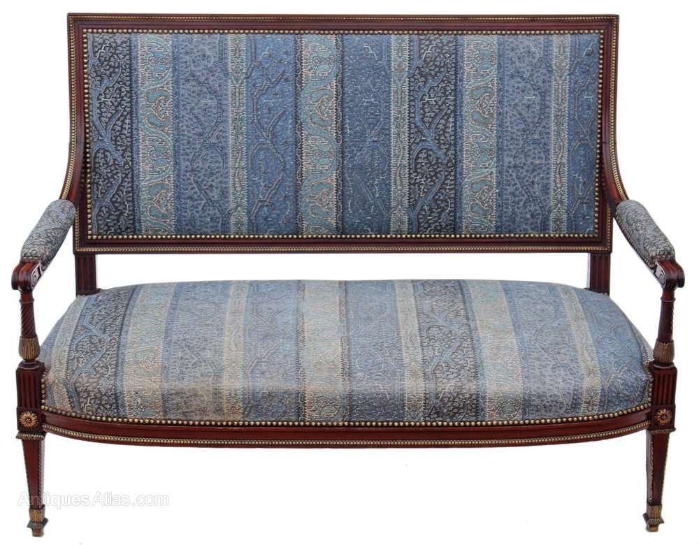 French early 20c carved mahogany sofa settee antiques atlas for Settees and sofas
