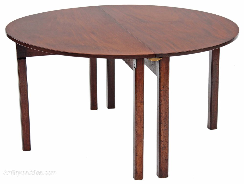 Georgian 19c folding campaign mahogany dining table antiques atlas - Antiques dining tables ...