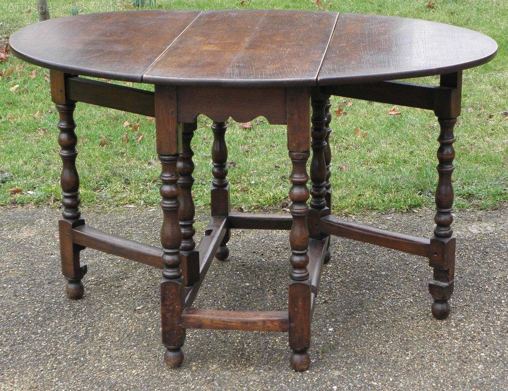 Georgian Elm Gate Leg Dining Breakfast Table Antiques Atlas
