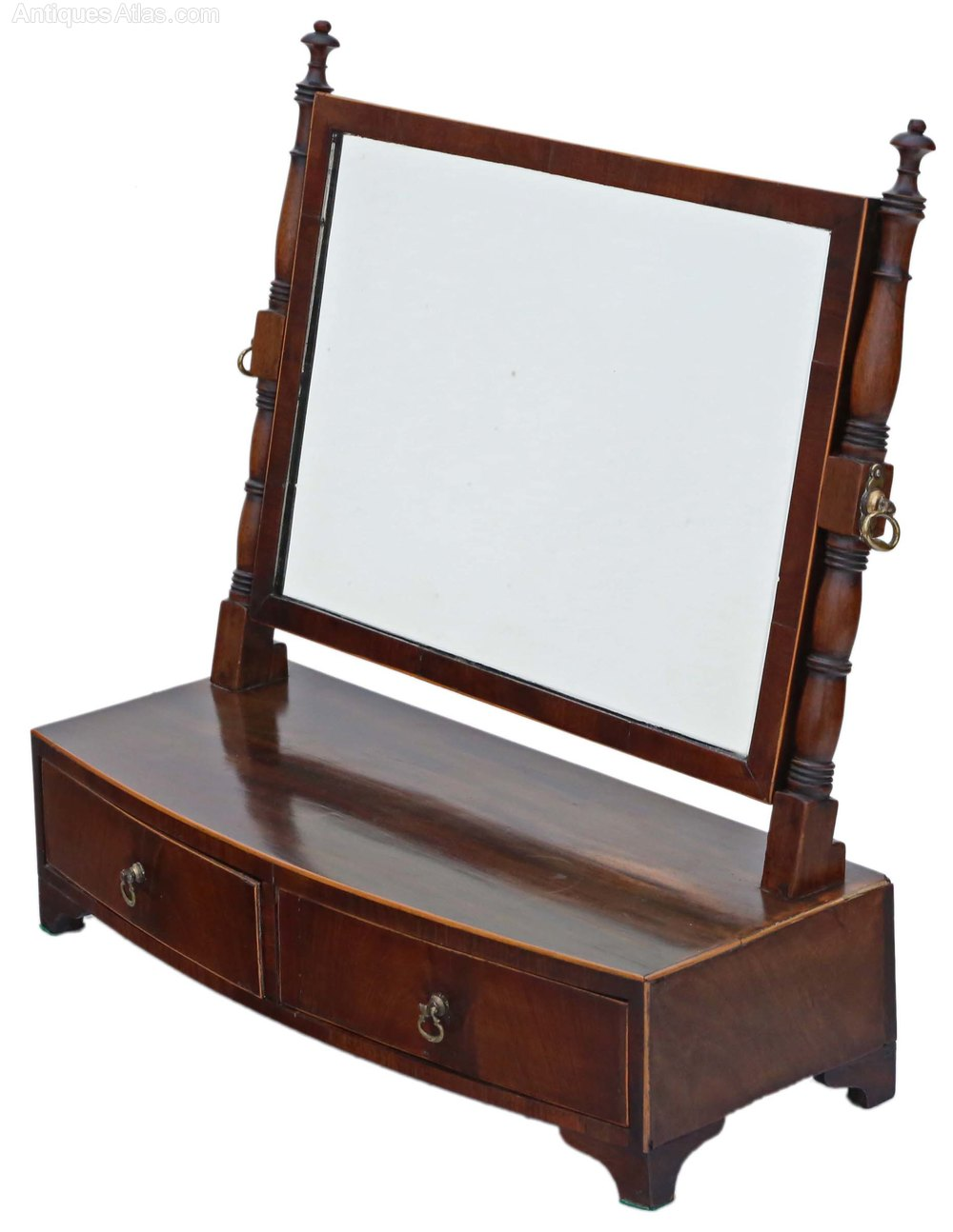 Antiques atlas georgian mahogany dressing table swing mirror