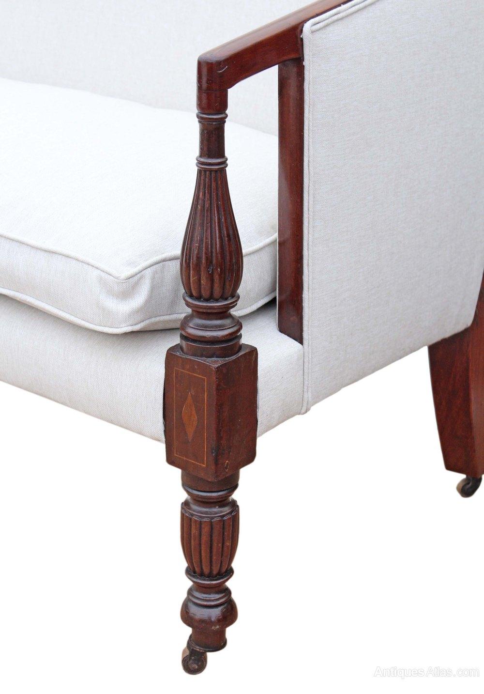 Georgian Mahogany Sofa Chaise Longue Bench Settle